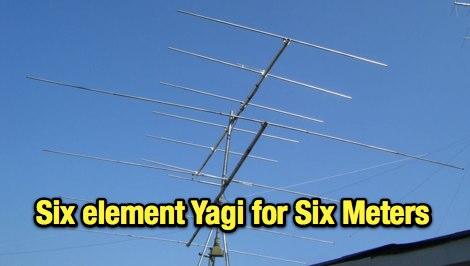 6 elements Yagi for 6 meter