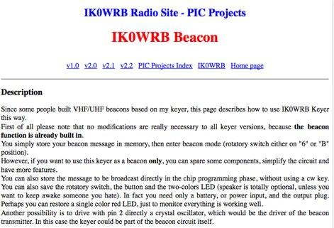 DXZone IK0WRB Beacon