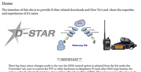 D-Star radio access point with Raspberry Pi