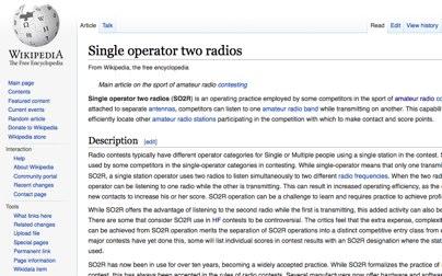 DXZone Single operator two radios