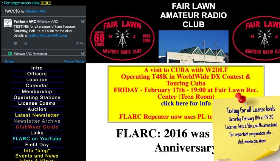 DXZone FLARC: Fair Lawn Amateur Radio Club