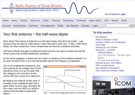 DXZone Your first antenna - the half-wave dipole