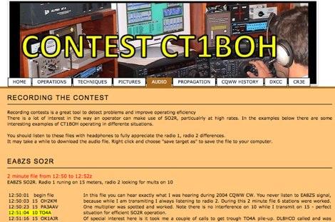 DXZone Contest Audio Recording