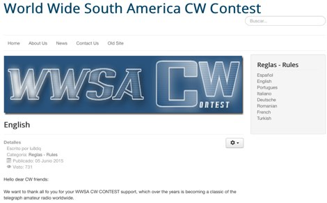 World Wide South America CW Contest