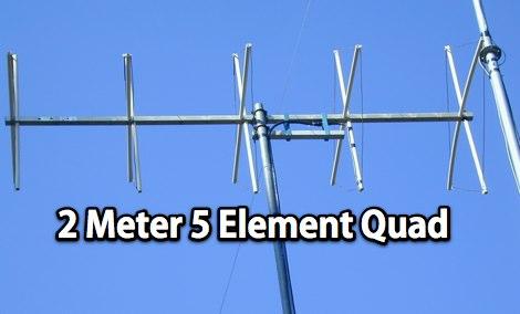 2 Meter 5 Element Quad