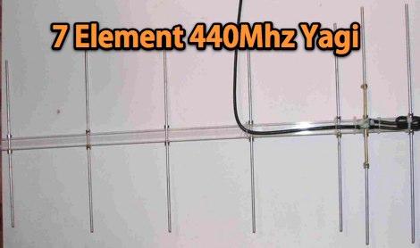 DXZone 7 Element 440Mhz Yagi