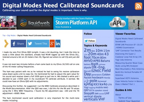Digital Modes Need Calibrated Soundcards