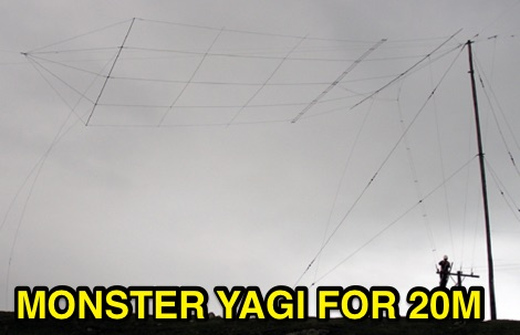 5 element wire Yagi antenna for 20 m