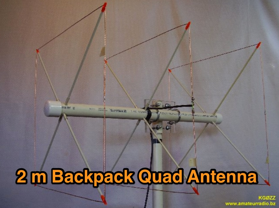 2 Meter Backpack Quad Antenna - Resource Detail - The DXZone com