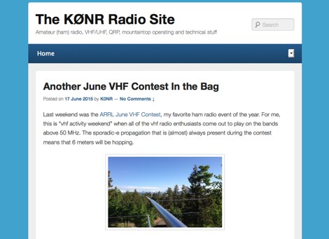 The K0NR Radio Site