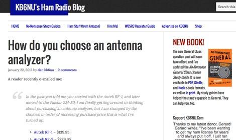 DXZone How to choose an antenna analyzer