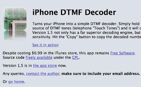 iPhone DTMF Decoder - Resource Detail - The DXZone com