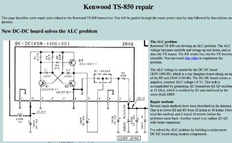 DXZone Kenwood TS-850 repair