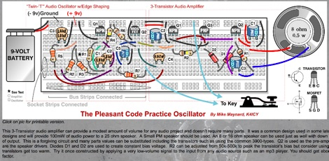 The Pleasant Code Practice Oscillator