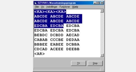 Morse tranings program