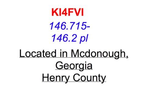 KI4FVI 146.715Mhz Repeater