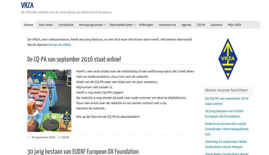 DXZone VRZA  Vereniging van Radio Zend Amateurs