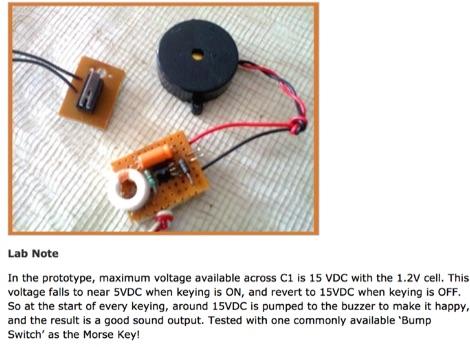 Portable Morse Code Practice Oscillator
