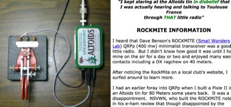 RockMite QRPp Rig