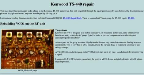 Kenwood TS-440 repair