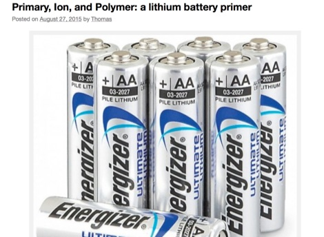 A lithium battery primer