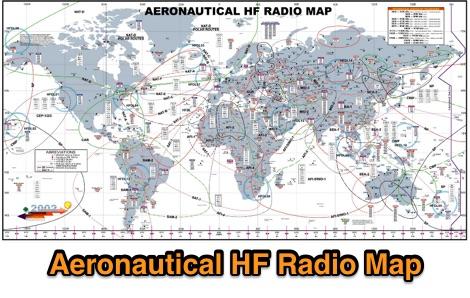 DXZone Aeronautical HF-Radio Map