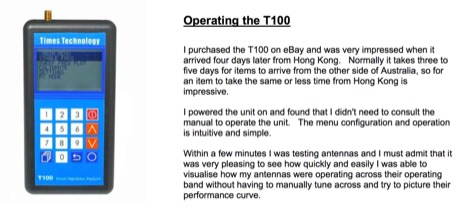 Times T100 Antenna Analyser Review