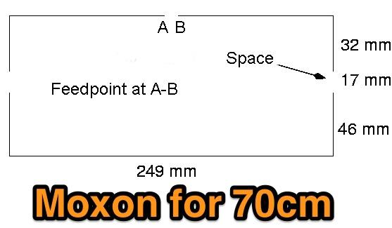 70cm Moxon Beam