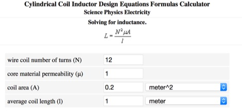 Inductor Calculator - Resource Detail - The DXZone com