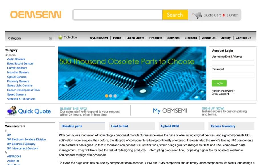 DXZone OEMSEMI-Obsolete Electronic Components Distributor