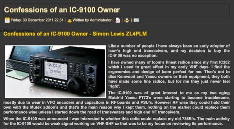 Confessions of an IC-9100 Owner