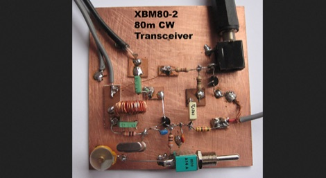 80m XBM80-2 QRP CW transceiver