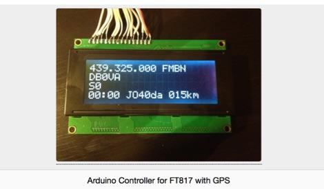 DXZone Control the Yaesu FT 817 Using Arduino