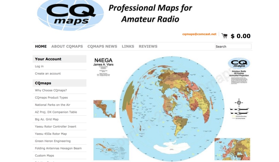 CQmaps - Professional Maps for Amateur Radio