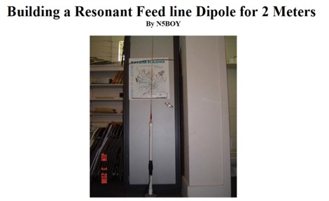 DXZone Feed line Dipole for 2 Meters