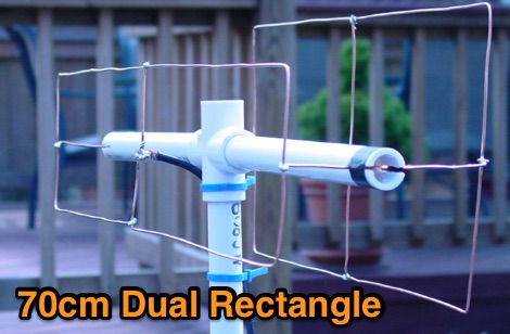 DXZone UHF Dual Rectangle Antenna