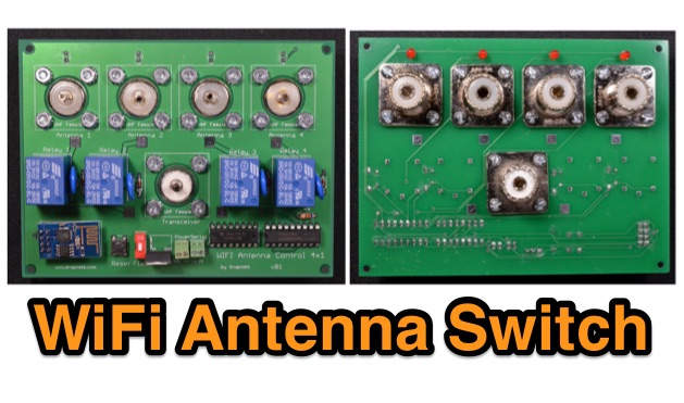 4x1 WiFi Wireless Antenna Switch for Amateur Radio