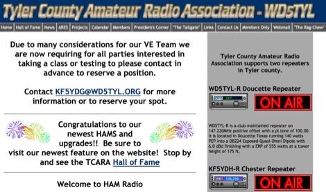 WD5TYL Tyler County Amateur Radio Association