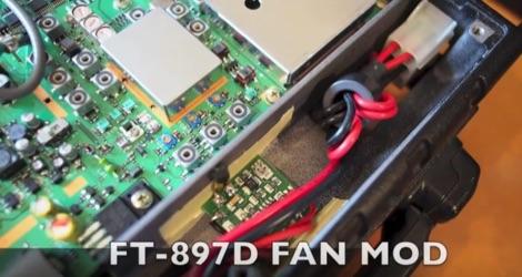 Yaesu FT 897 fan mods