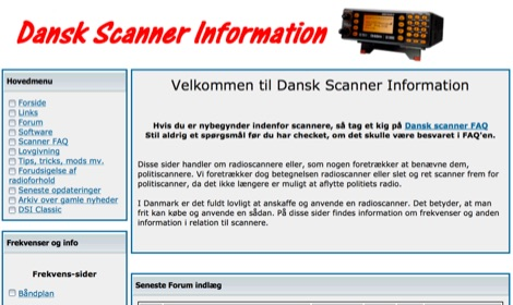 Dansk Scanner Information