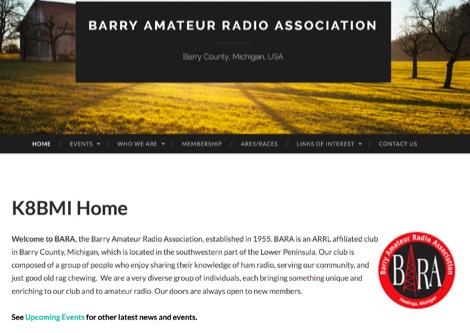 K8BMI BARA, the Barry Amateur Radio Association