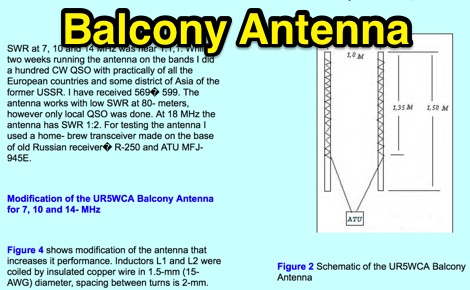 DXZone Balcony Antenna for 7 10 14 MHz