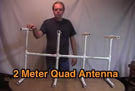 2 Meter Quad PVC Pipe Antenna