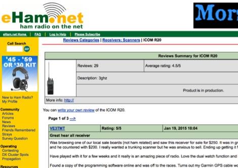 Icom IC-r20 Reviews