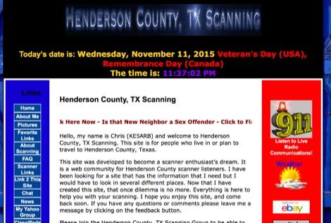 Henderson County, TX Scanning