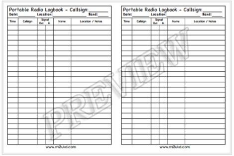 DXZone Printable Amateur Radio Logbooks