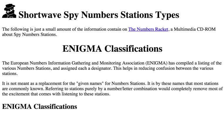 Numbers Stations Classification