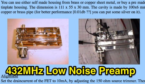 432MHz Low Noise Preamp