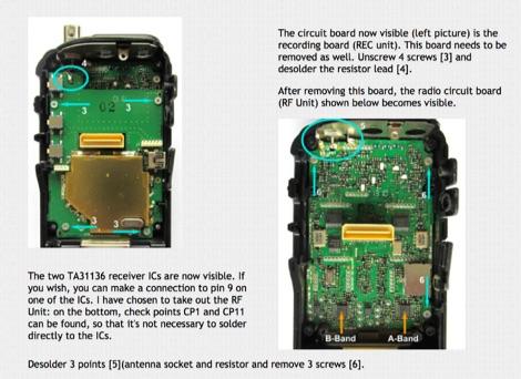 Icom IC-R20 discriminator mod