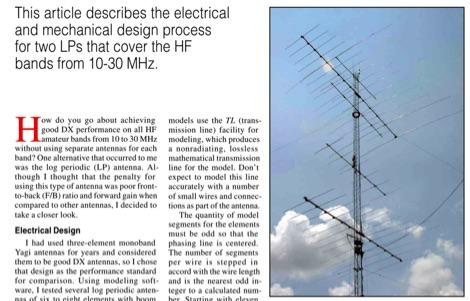 Practical HF Log Periodic Antennas